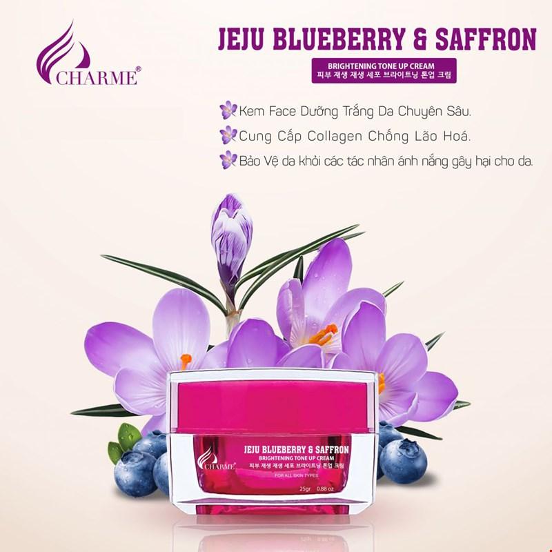 Kem Dưỡng Trắng Da Chống Lão Hóa Charme Jeju Blueberry & Saffron 25g